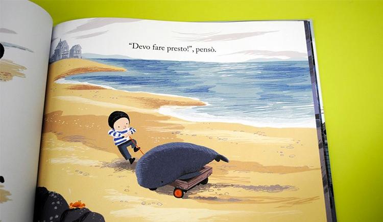 La balena della tempesta libro illustrato