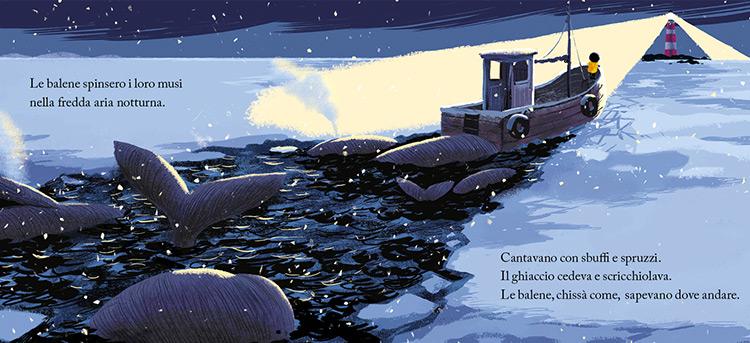 la balena della tempesta in inverno libro illustrato