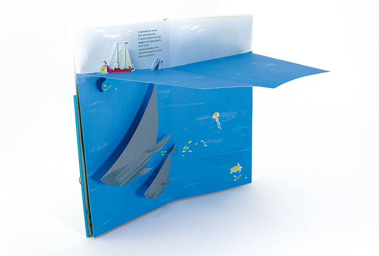 Oceano libro pop-up per bambini