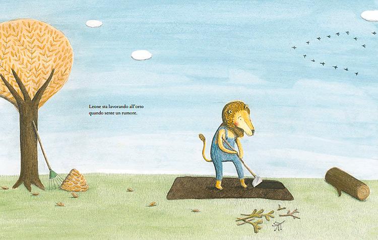 Il leone e l'uccellino libro per bambini