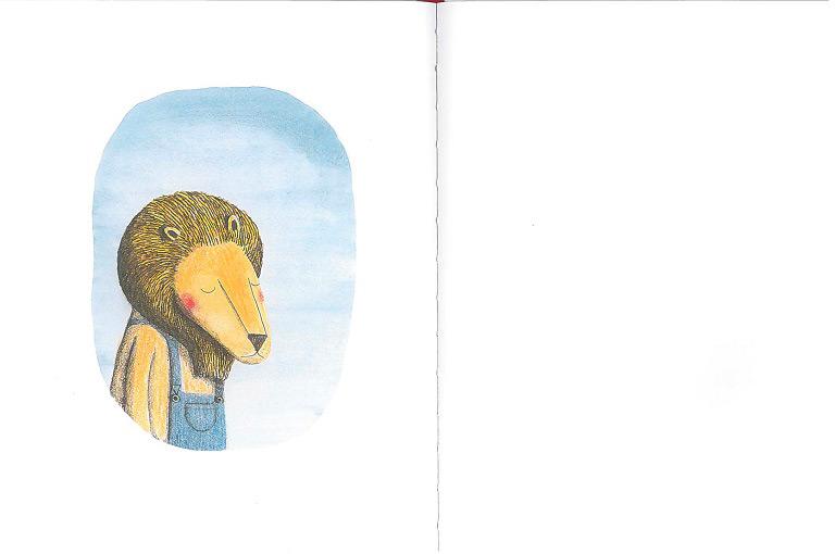 Il leone e l'uccellino bambini