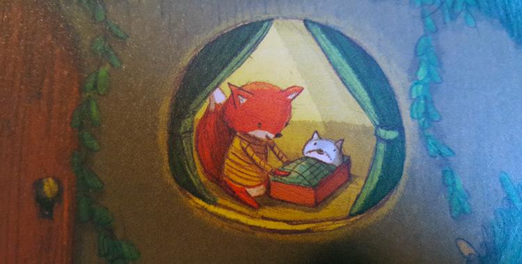 Piccola volpe nel bosco magico libro per bambini