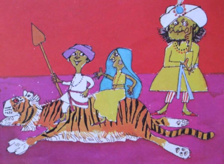 tappeto tigre rose libro